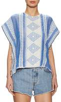 Lemlem Women's Freya Cotton Embroidered Cropped Poncho