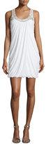 Mignon Sleeveless Embellished Bubble Dress, Ivory