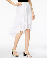 NY Collection Pleated Asymmetrical Skirt