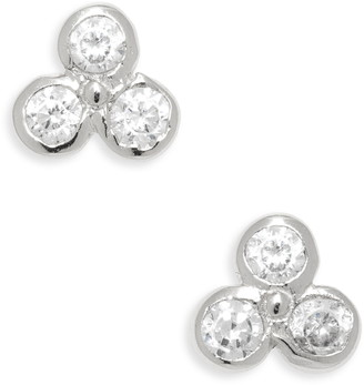 Argentovivo Cluster Cubic Zirconia Stud Earrings