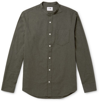 NN07 Justin Slim-Fit Grandad-Collar Cotton Shirt