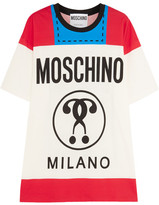 Moschino Printed Cotton-jersey T-shirt - Red