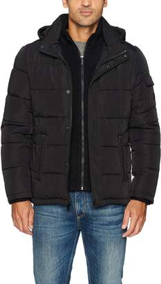 Calvin Klein Men's Alternative Down Puffer Jacket with Bib & Hood