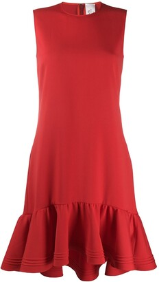 Victoria Victoria Beckham Dropped Waist Fluted Hem Dress