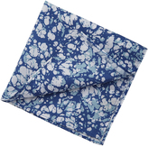 Oxford Pocket Square Cotton Blue Bubble