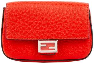 Fendi Baguette Red Leather Bag charms