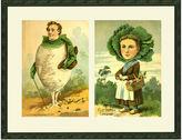 One Kings Lane Whimsical Vegetable Couple, 1900