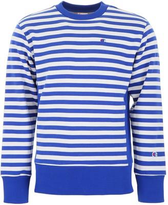 Champion Striped Logo Sweatshirt