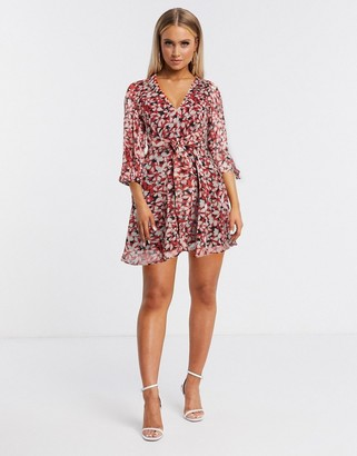 Talulah Cherry floral mini dress