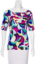 Emilio Pucci Jersey Printed Top