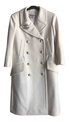Chanel White Wool Coats