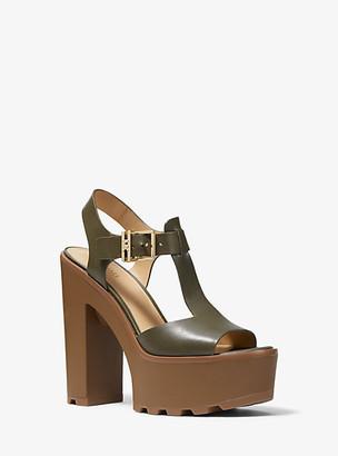 Michael Kors Sinead Leather Platform Sandal