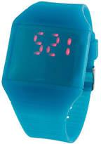 Geneva Platinum Turquoise Digital Watch