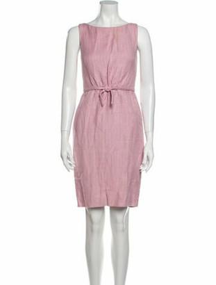 Giambattista Valli Linen Knee-Length Dress Pink