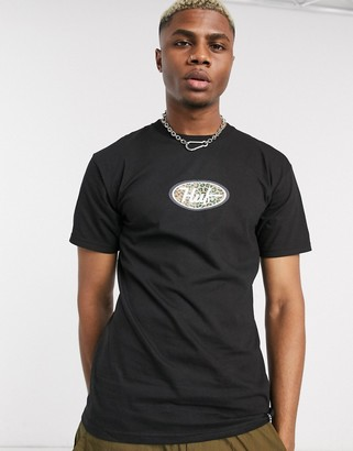 HUF Leopard Logo t-shirt in black
