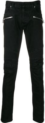 Balmain slim fit panelled jeans