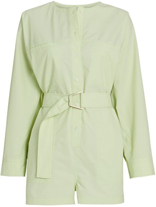 3.1 Phillip Lim Belted Button-Down Romper