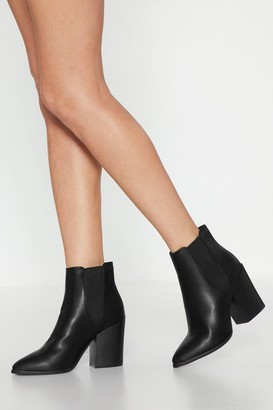 Nasty Gal Womens Walk Away Faux Leather Chelsea Boots - Black - 5, Black