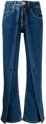 Aalto Panelled Flared Jeans