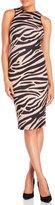 XOXO Zebra Print Racerback Midi Dress