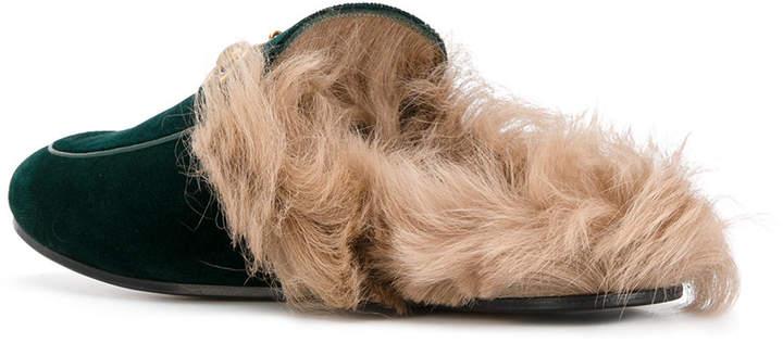Gucci Princetown velvet slipper mules