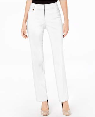 JM Collection Regular and Short Length Curvy-Fit Slim-Leg Pants
