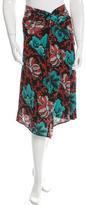 Dries Van Noten Silk Printed Skirt