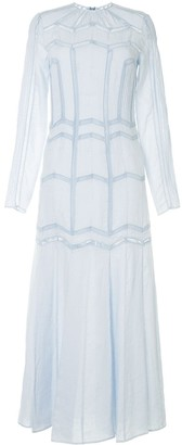 Gabriela Hearst Embroidered Maxi Dress