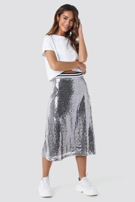 NA-KD Sequin Midi Skirt
