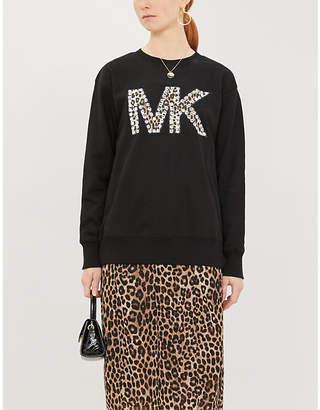 MICHAEL Michael Kors Logo-appliqué jersey sweatshirt