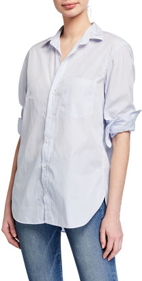 Frank And Eileen Striped Long-Sleeve Button-Down Poplin Shirt