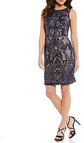 Calvin Klein Sequin Embroidered Sheath Dress