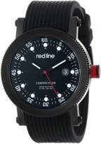 Redline red line Men's RL-18000-01-BBWSET Compressor Black Dial Black Silicone Watch