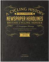 Very Personalised Cycling Heros Newspaper A3 Book - black leather cover/colour print