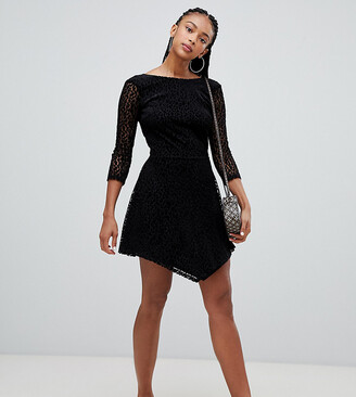 Bershka long sleeved leopard dress-Black