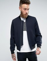 Paul Smith PS by Bomber Jacket In With Texture Navy