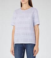 Reiss River Panelled Jersey T-Shirt