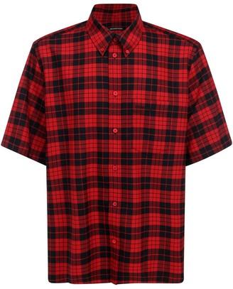Balenciaga Checked Short-Sleeved Shirt