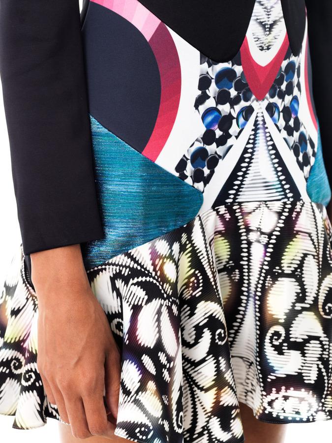 Peter Pilotto Caio panelled print dress