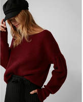 Express volume sleeve pullover sweater
