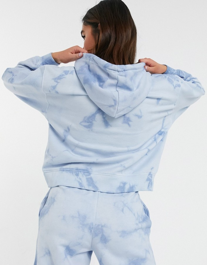 Thumbnail for your product : New Look co-ord graphic logo tie dye hoodie in blue