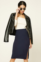 Forever 21 Off-Center Slit Pencil Skirt