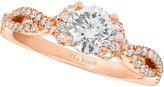 LeVian Le Vian® Bridal Diamond Engagement Ring (1-1/6 ct. t.w.) in 14k Rose Gold