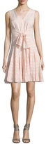 Rebecca Taylor Embroidered Sleeveless Gauze Dress