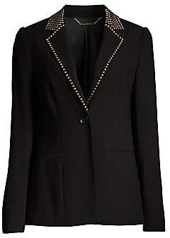 Elie Tahari Women's Stella Studded Single-Button Jacket