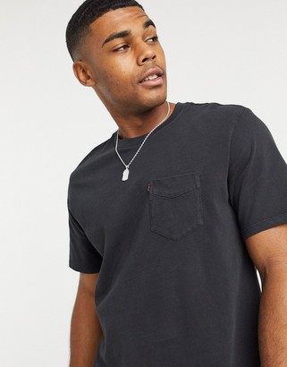 Levi's Sunset Pocket '20 slub t-shirt in black