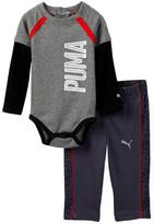 Puma Twofer Bodysuit & Printed Pant Set (Baby Boys)
