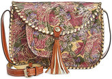 Patricia Nash Metallic Tooled Lace Beaumont Flap Crossbody