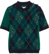 Burberry Argyle Wool-blend Sweater