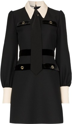 Gucci shirt and tie wool dress